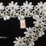 6.5cmの豪華な刺繍されたBroderieのAnglaiseの綿のレースのトリムHme891