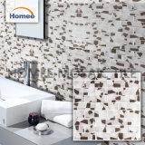 灰色のカラーストリップの浴室のタイルのきらめきのクリスタルグラスのモザイク・タイル