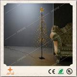 Indicatore luminoso inverso attraente dell'albero con la stella superiore per la decorazione di natale/cerimonia nuziale/partito