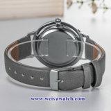Custom Mesdames montres à quartz de cuir wist, femme de regarder en alliage (WY-17043)