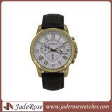 Reloj de cuero de moda ver Nuevo reloj de pulsera reloj de acero inoxidable