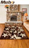 Luxious e cuscino della coperta del fiore della pelle di pecora di modo con inclinazione