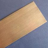 HL de oro 304 de la placa de acero inoxidable y de la hoja
