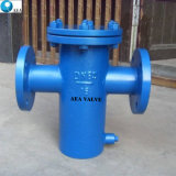La instalación horizontal o vertical cesta filtrante con mallas de acero inoxidable