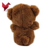 Urso feito sob encomenda da peluche do brinquedo do Valentim do velo da fábrica de ICTI com coração