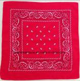 Quadratische Headwrap Bandanna Fabrik Soem-Erzeugnis kundenspezifische Entwurf gedruckte Baumwollrote Paisley-