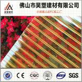 Feuille de mur de double de polycarbonate de feuille de Hollw de PC de résistance d'incendie pour des matériaux de construction de toiture