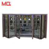 Portello Bifold di vetro del doppio di alluminio di profilo