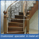 屋内のためのカスタマイズされたステンレス鋼の青銅の金贅沢な階段柵