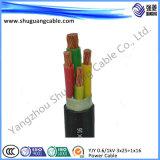 La armadura al cable de alimentación de revestimiento de PVC