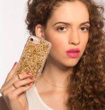 Luxuxfunkeln Bling Goldfolien-eingebettete hybride Stoßtelefon-Kästen