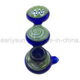 Three Layers Circular Green Colored Platform Knell Hand Pipe (ES-HP-175)