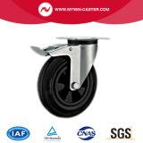 6 Zoll-Bremsen-runder Stamm-Plastikkern-Gummieuropa-Typ industrielle Fußrollen