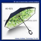 De dubbele Paraplu van de Zon van de Auto's van de Gift van de Laag uv-Bestand Omgekeerde Promotie
