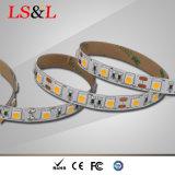 Ce 60LEDs/M, 14.4W, 5m/Roll de lumière de Ledstrip et RoHS