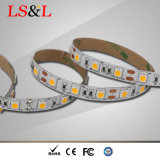Ce los 60LEDs/M, 14.4W, 5m/Roll de la luz de Ledstrip y RoHS