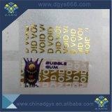 Etiket Stickeraadhesive van het Merk van de Stamper van de veiligheid het Duidelijke Privé Nietige