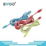 Venta caliente trenzado Nylon Micro USB cable de datos de relámpagos