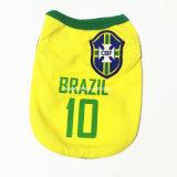 Haustier-Produkte Suppy Sports Polyester-T-Shirt Fußball-Fußball Team-Hundekleidung