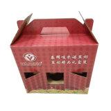 Rectángulo portable del empaquetado de leche de soja del papel del estilo con la maneta