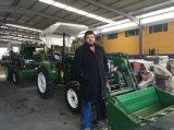 entraîneur agricole de ferme de 25HP 30HP 40HP 45HP mini avec le chargeur de frontal de la CE