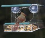 明確なプラスチックアクリルの壁に取り付けられた鳥の家