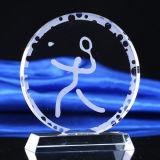 De Duidelijke Plaque van uitstekende kwaliteit van de Toekenning van de Trofee van het Schild van het Kristal van het Glas met Basis
