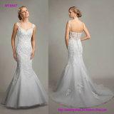 Isolationsschlauch-Brücke-Trompete-Hochzeits-Kleid mit reizvollem geöffnetem zurück