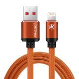 C04 2.4A Cuir Métal connecteur rapide du câble USB du câble de téléphone mobile