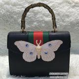 A borboleta decorou o punho retro Sh193 do saco de ombro da mulher do estilo de Europa dos sacos de mão das senhoras