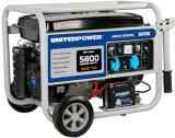 1kw, 2kw, 3kw, 4 kw, 5kw, 6kw et de la main Air-Cooled démarrage électrique AC puissance monophasés et triphasés et générateur à essence portable avec kit de roue