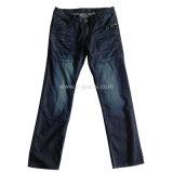 2014 Moda Hombre de Jeans jeans de mezclilla color azul oscuro