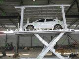 CE provou o elevador do carro da tesoura dobro da plataforma