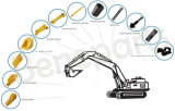 Exkavator-Qualitäts-Wannen-Zahn-Adapter 6I6406