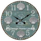 Decoración Vintage Diseño náutico Azul Marino de antigüedades de madera MDF de reloj de pared de la etiqueta de papel de impresión