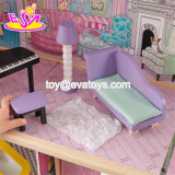 Le nuove ragazze di stile fingono il giocattolo di legno miniatura del Dollhouse del gioco con 16 parti della mobilia W06A220