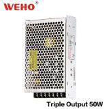 50 W Alimentation à sortie triple SMPS AC/DC