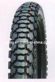 Hoher Prozent-Naturkautschuk-Motorrad-Gummireifen mit populärem Muster (3.25-18)
