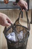 Bolso de basura del negro del PE/trazador de líneas del compartimiento/bolso de basura sellados estrella