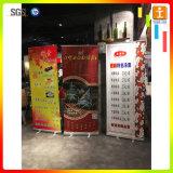 L'étalage d'exposition enroulent le stand de drapeau de câble