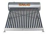 Sistema de aquecedor solar de água, aço inoxidável