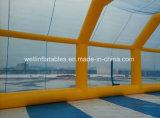Arena gonfiabile di gioco del calcio dell'acqua del sapone per il gioco del gioco del calcio Bumper di calcio della bolla della sfera