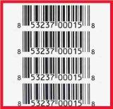 Thermisches Label für Barcode