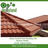 Tuile de toit enduite en pierre en métal (tuile romaine)