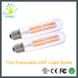 Lâmpada LED de Filamento Tubular T32 6W Lâmpada LED Decorativa