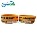 Braccialetti impressi di segmento dei braccialetti del silicone dei Wristbands