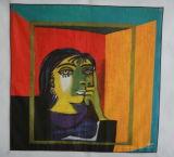 Picasso écharpe d'impression couleur