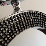 Eindeutige moderne Kristallkarosserien-Gewebe-Farbton-Tisch-Lampe für Kopfende