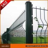 Los 3 dobleces verde oscuro soldaron la cerca del acoplamiento de alambre