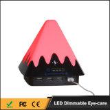 Tomada portuária do USB da qualidade 4 de China lâmpadas de mesa flexíveis da carga do diodo emissor de luz da cor da melhor multi